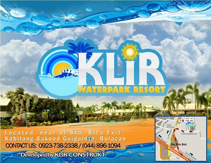 klir waterpark resort map and banner from FB